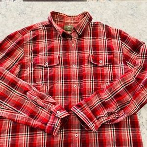 Timberland Thick Flannel Button Down Large